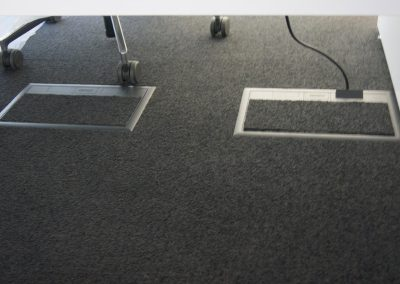 office plugs under floor