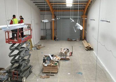 units or shop electrical lighting installation